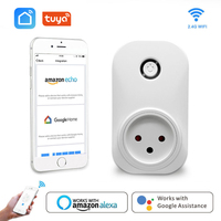 Wifi 플러그 소켓 이스라엘 IL16A 전원 모니터 콘센트 App Google 홈으로 원격 음성 제어 Alexa Echo Tuya Smart Life