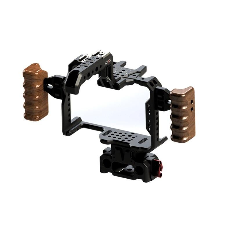 Image 2 - HONTOO S1H 一眼レフカメラ用パナソニック Lumix S1 S1R S1H 木製ハンドルトップハンドル 15  ミリメートルベースプレート    グループ上の 家電製品 からの フォトスタジオ用アクセサリー の中