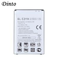 Dinto 3000 Mah BL-53YH BL53YH Bl 53YH Vervangende Telefoon Batterij Voor Lg G3 400 F400K F460 F470 D830 D850 VS985 d850 D852 D855 D859