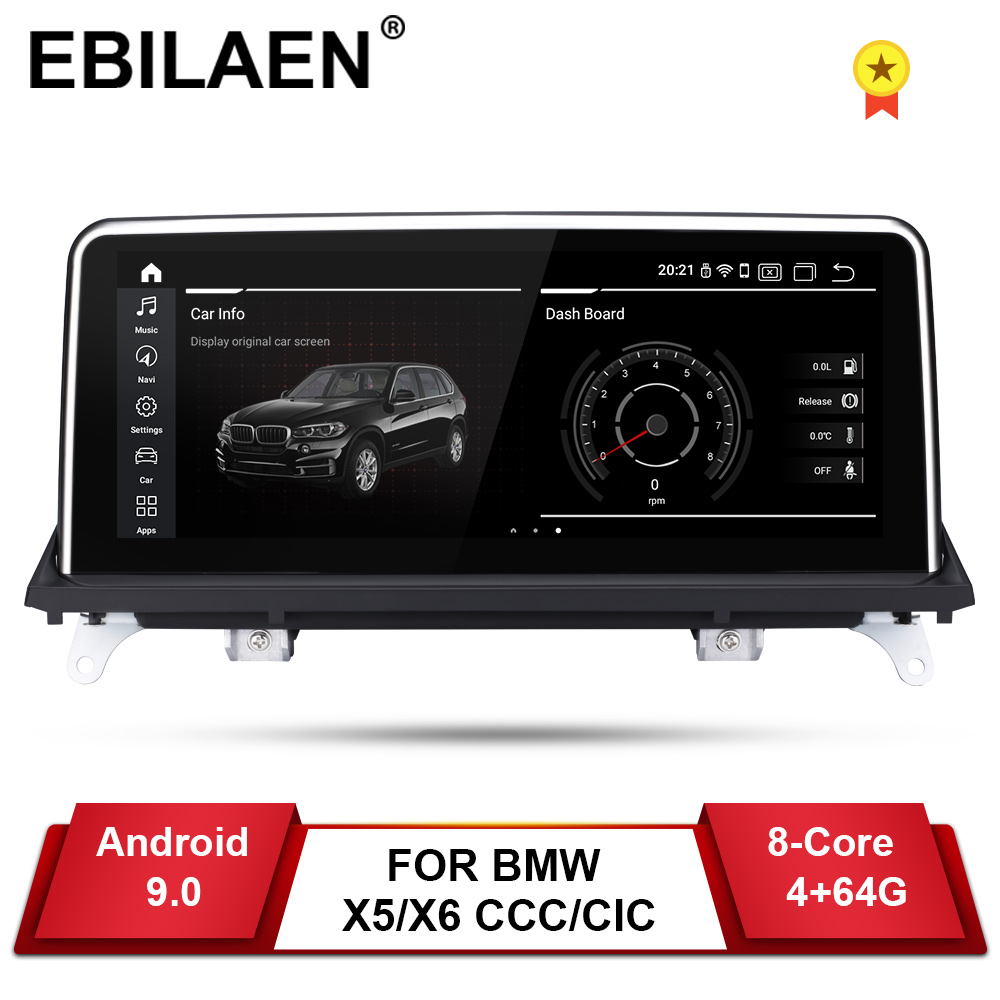 EBILAEN Android 9.0 Car DVD Player for BMW X5 E70/X6 E71 (2007-2013) CCC/CIC System Unit PC Navigation Auto Radio Multimedia IPS