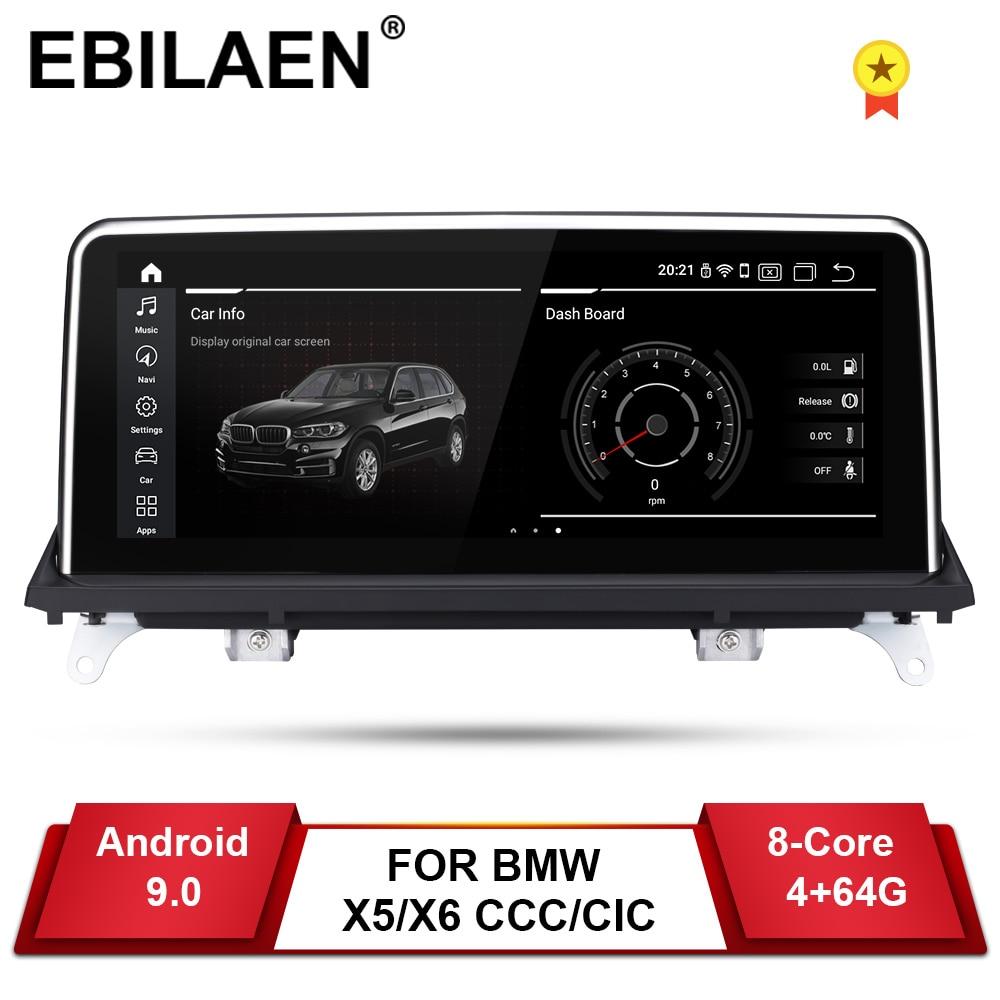 EBILAEN Android 9.0 Jogador Do Carro DVD para BMW X5 E70/X6 E71 (2007-2013) CCC/CIC Unidade Do Sistema do PC IPS de Navegação Auto Rádio Multimídia