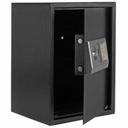 【Magazyn amerykań】 E50EA Home Business Security blokada klawiatury elektroniczna cyfrowa stal bezpieczna czarna skrzynka i srebrno-szara