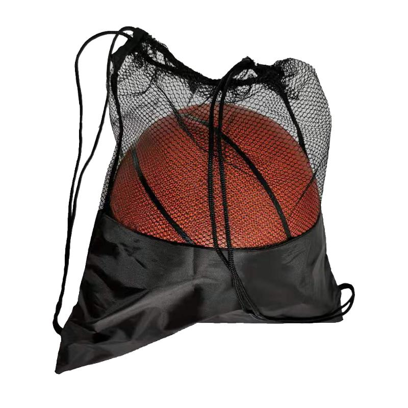 Portable Black Basketball Net Bag Multi-function Football Storage Pouch Organizer Outdoor Sports Training Accessories