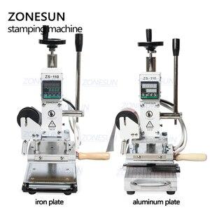 Image 2 - ZONESUN חם לסכל Stamping מכונת למכס לוגו Slideable Workbench עור הבלטות Bronzing כלי עבור עץ PVC DIY ראשוני