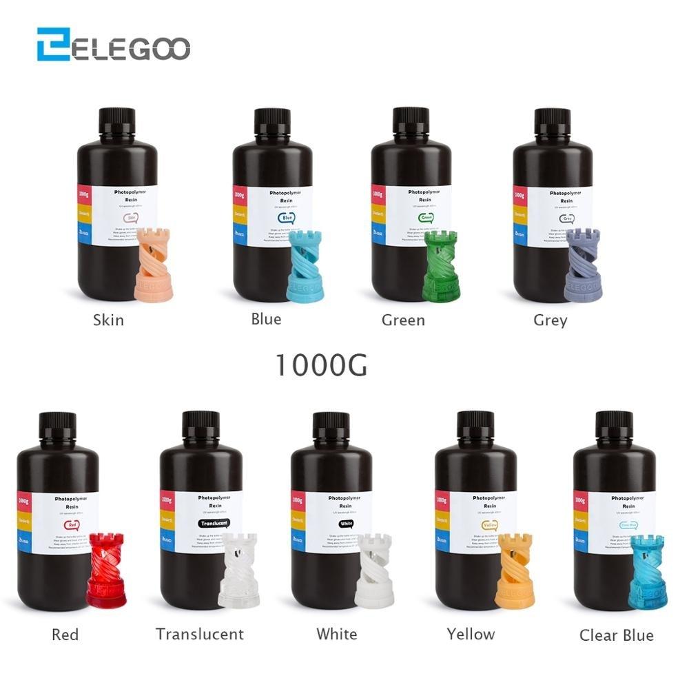 ELEGOO из АБС-пластика, как резина Impressora 3D Stampante смолы 3D Резина ультрафиолетовое чувствительных смолы 405nm нормальный быстрого отверждения объе...
