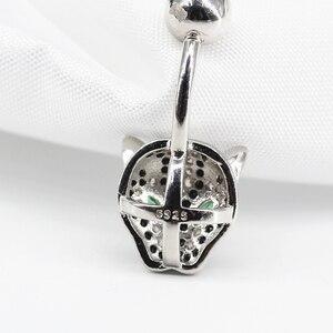 Image 4 - 925 Sterling Zilver Belly Button Ring Mode Luipaard Stijl Navel Piercing Lichaam Sieraden Voor Gift