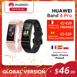 Global Version Huawei Band 4 Pro Smart Band Blood Oxygen 0.95'' AMOLED Screen Heart Rate Tracker GPS Sleep monitoring Smartband