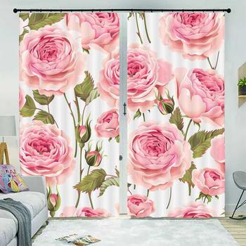 customize curtains for living room bedroom Flower window blackout curtain Home Decoration 2019