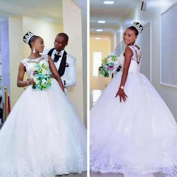 Cheap Princess Vestido De Noiva Country Lace Wedding Dresses 2020 Amazing Back Bridal Gowns African - discount item  33% OFF Wedding Dresses