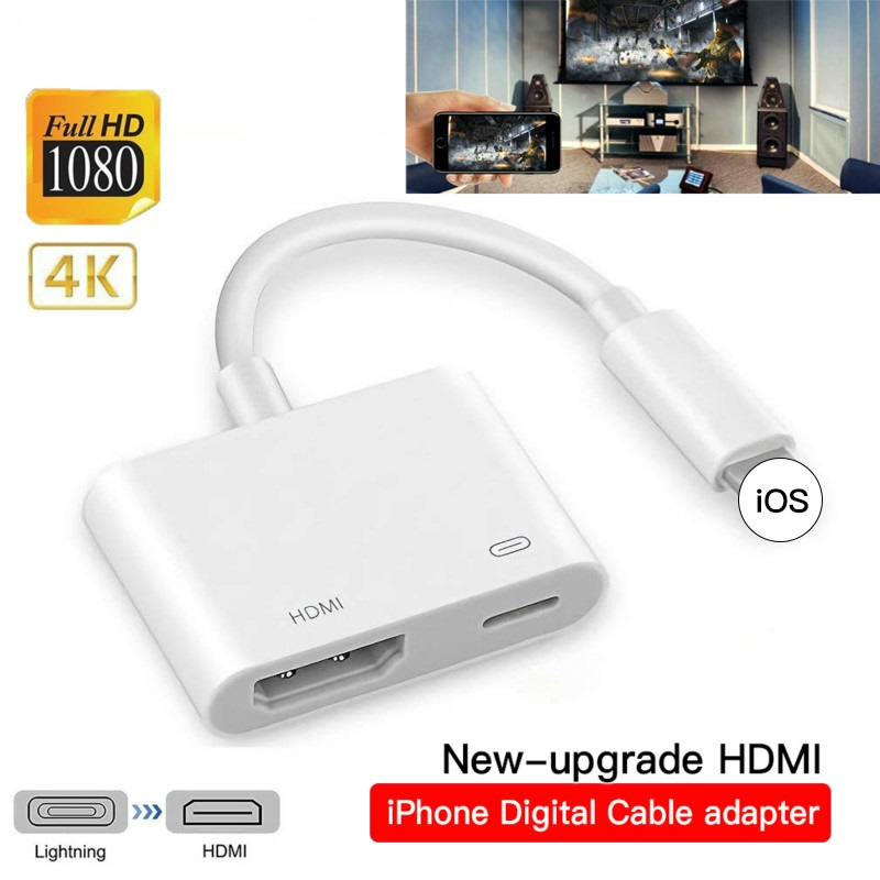 4k 1080p para iphone para hdmi vga adaptador de áudio para apple ipad ipod digital av adaptador conversor para iphone x/11/8p/6s/7p/ipad ar