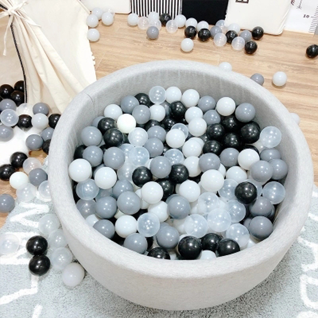 $ US $13.53 200 Pcs/Lot Plastic Balls Eco-Friendly Colorful Ball Soft Kid Swim Pit Toy Outdoor Ball Water Pool Ocean Wave Ball Dia 5.5 cm