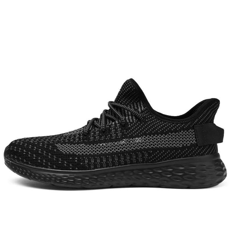 2019 nuevos zapatos transpirables hombres malla Casual zapatillas ligeras hombre cómodo calzado encaje-Up Tenis Masculino tallas grandes 48