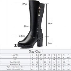 Image 2 - AIYUQIฤดูหนาวรองเท้าผู้หญิงรองเท้าหนังแท้รองเท้าหนังผู้หญิงรองเท้าผ้าขนสัตว์รองเท้าบู๊ตหิมะกันน้ำอุ่นหญิงHigh Boots