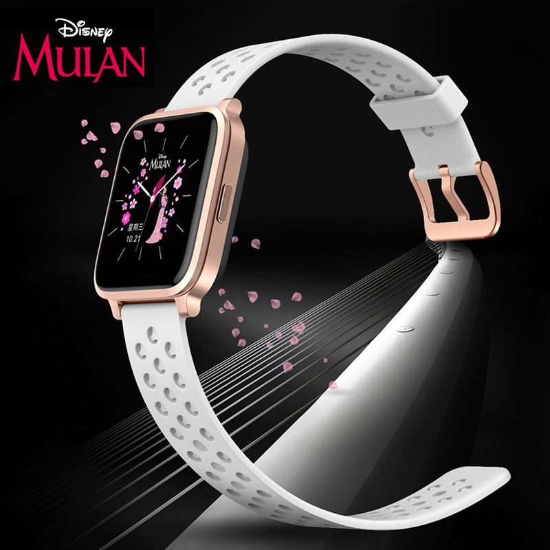 Disney сертифицировано 4G дети% 27 лет телефон часы Mulan сенсорный экран позиционирование спорт часы полный Netcom princess часы
