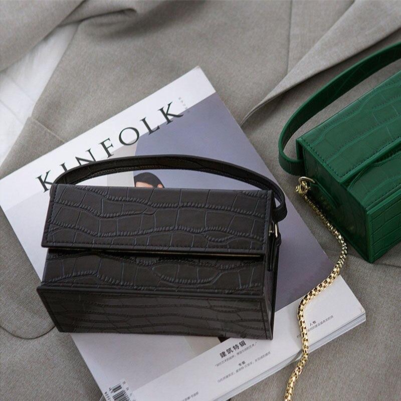 Customized Box Bag Vintage Chain Purse Genuine Leather Fashion Box Handbag Designer Shoulder Bag New Casual Square Crossbody Bag