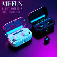 MINI Wireless Headphones TWS 5.0 Bluetooth Earphone IPX7 Waterproof Earphone 8D Stereo Earbuds W/MIC 3500mah Earphones Bluetooth