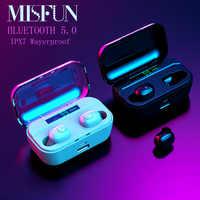 MINI słuchawki bezprzewodowe TWS 5.0 słuchawki Bluetooth IPX7 wodoodporne słuchawki 8D słuchawki stereo W/MIC 3500mah słuchawki Bluetooth