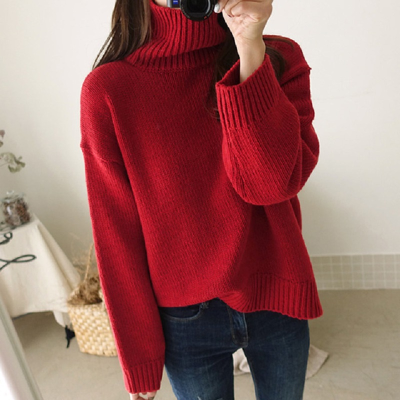 Женский Повседневный вязаный свитер aecu свободные джемперы
