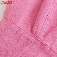 Tangada Summer Women Solid Pink Backless Mini Dress Strap Adjust Sleeveless 2021 Fashion Lady Sundress 3H375 3