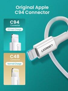 Image 3 - كابل USB من Ugreen MFi من النوع C إلى البرق لهواتف iPhone 12 Mini Pro Max 8 PD 18 وات 20 وات كابل بيانات سريع لشحن USB C لأجهزة Macbook Pro