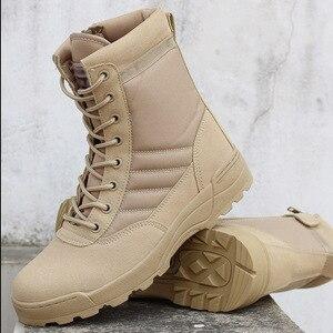 Мужские военные тактические ботинки для пустыни; Мужская Уличная Водонепроницаемая походная обувь; кроссовки; мужские нескользящие спортивные ботинки для альпинизма; L1-64