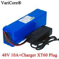 48v 10ah VariCore E moto-bateria 18650 li-ion battery pack kit de conversão bicicleta 1000w XT60 plug + 54.6v Carregador 2A