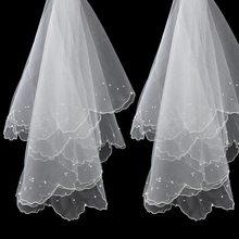 Véu de noiva feminino, acessório curto de noiva simples e elegante
