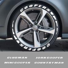 Autocollants 3D lettres en caoutchouc pour pneus de voiture, pour Mini Cooper, John Cooper, Countryman, Clubman, Cabrio, Paceman, Roadster, Coupe, accessoires