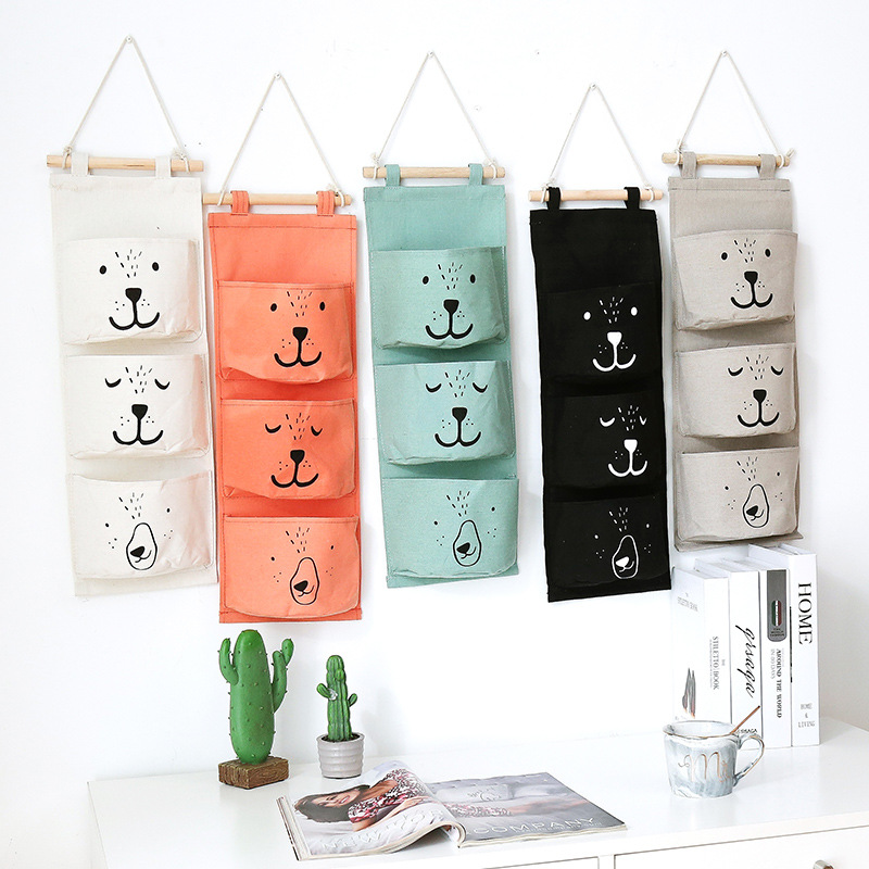 Wall Hanging Bathroom Bath Toy Bags Organizer Linen Closet Children Pouch For Baby Bath Toys Books Cosmetic Sundries