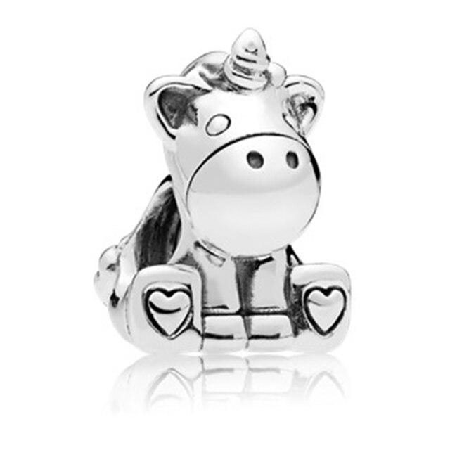 45 Types série animale ajustement Pandora marque originale Bracelets à breloques bijoux à bricoler soi-même accessoires femmes argent couleur perles bricolage pendentif