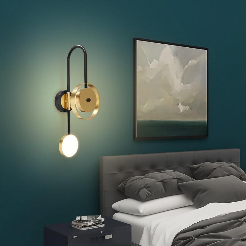 fss moderno ouro lampada parede led 04