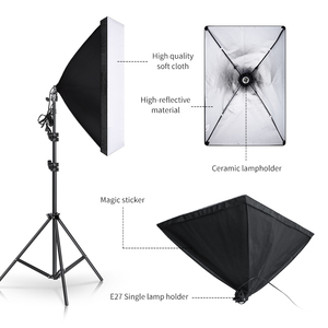 Image 4 - 2.6M x 3M/8.5ft x 10ft Background Support System and 135W 5500K Softbox Continuous Lighting Kit for Photo Studio Product