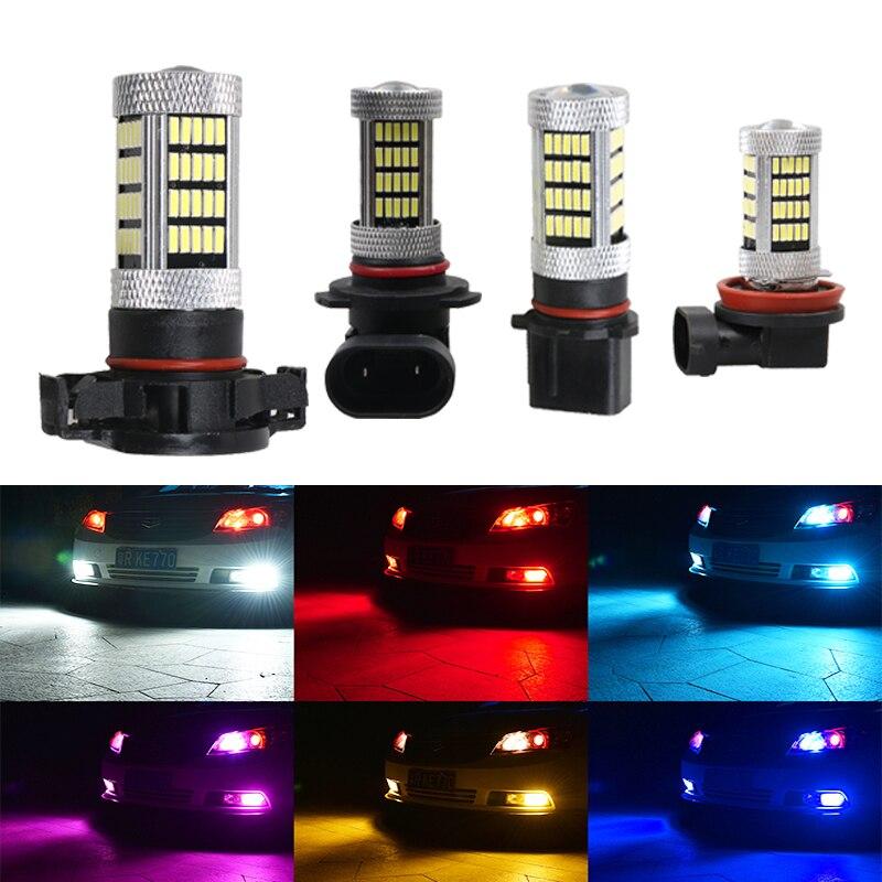 2 pezzi 9005 lampadine a LED fendinebbia per auto luci di marcia diurna lampade DRL 12V bianco ambra blu ghiaccio H8 H11 H16 9005 HB3 9006 HB4 P13w
