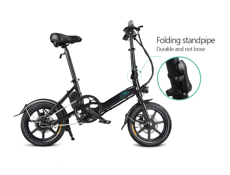 Fiido D3 Mini Electric Bike Two Wheels Electric Scooters 14 Inch 36V 250W Adults Portable Foldable Electric Bicycle With Seat (10)