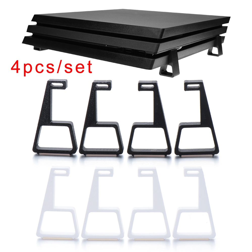 4PCS/LOT Game Console Horizontal Holder Bracket Cooling Feet Desktop Stand For Play Old PS4 Slim Pro Game Accessories