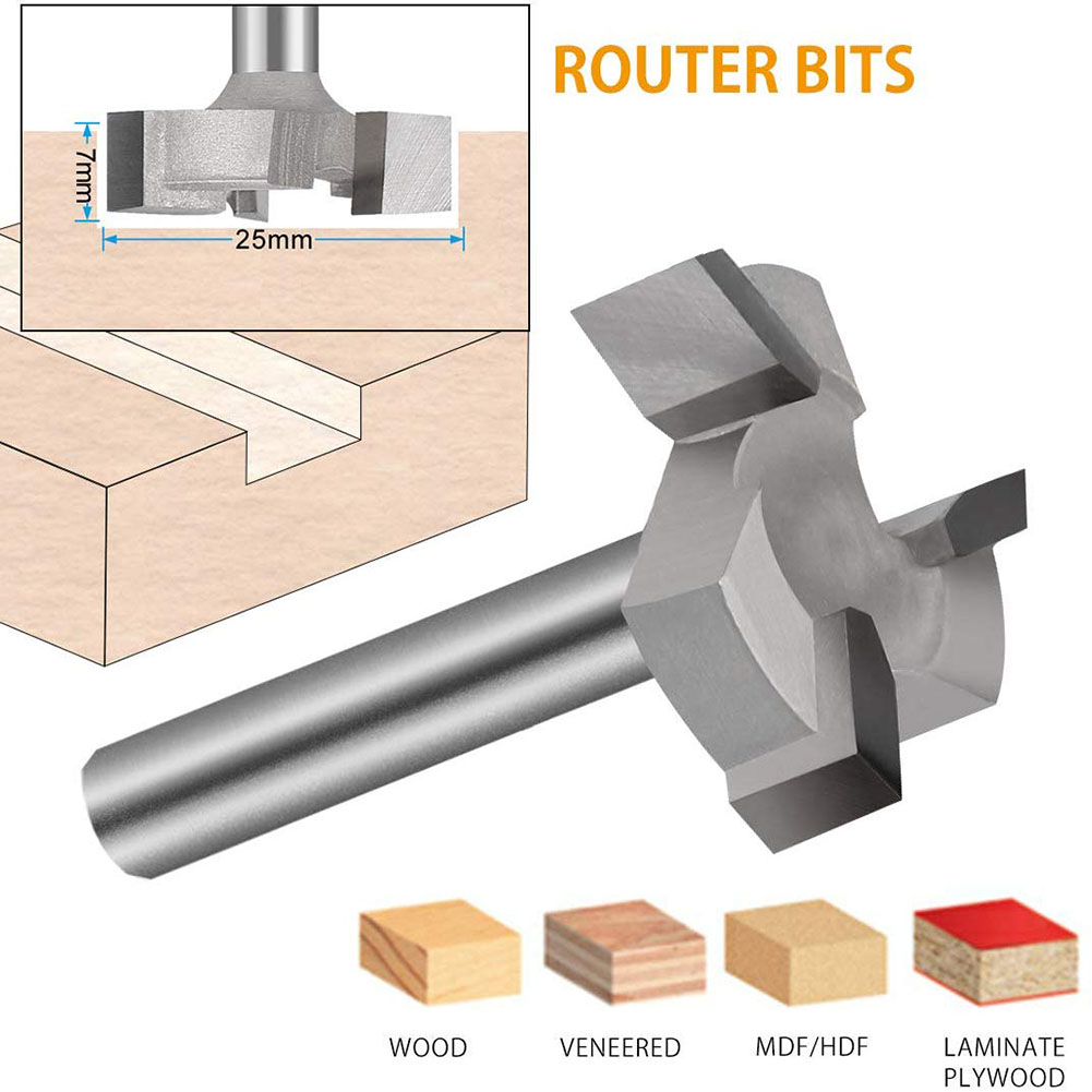 CNC Spoilboard Surfacing Router Bit 1/4 Inch Shank Carbide Tipped