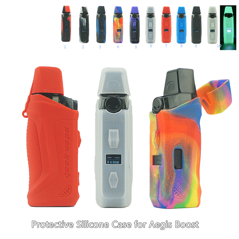 1Pcs New Protective Silicone Case For Geekvape Aegis Boost Mod Pod Kit Replacement Protective Soft Case