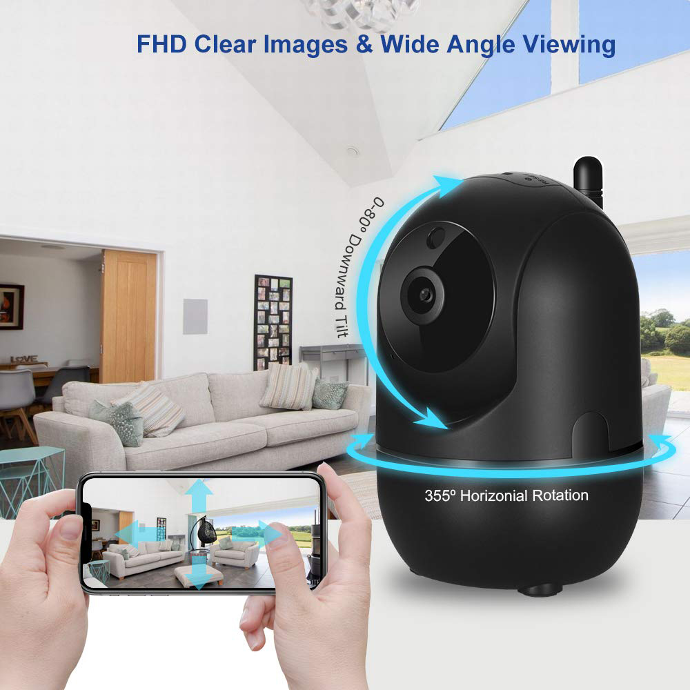 OSVR Black Smart Home Security Surveillance 1080P Cloud IP Camera Auto Tracking Network WiFi Camera Wireless CCTV YCC365
