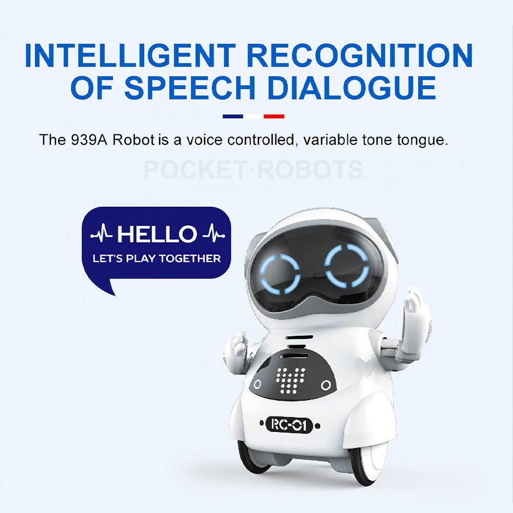 939A Pocket RC หุ่นยนต์ Talking Interactive Dialogue การรับรู้เสียงบันทึกร้องเพลงเต้นรำ Telling Story MINI RC หุ่นยนต์ของเล่นของขวัญ