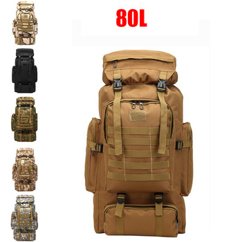 80L Capacity Men Army Military Tactical Backpack Waterproof Sling Backpacks Camping Hunting Hiking Rucksack Outdoor Sport Bag facecozy camping hiking outdoor waterproof backpack men