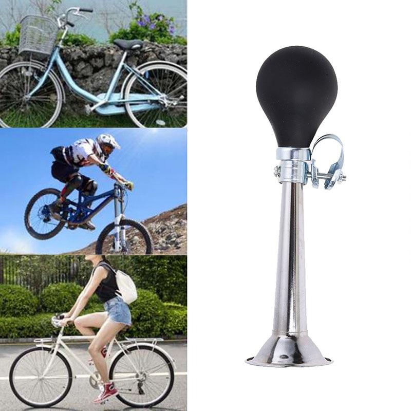 Loud Bicycle Bike Cycle Bell Hooter Klaxon Air Horn Steel Push Squeeze Handle