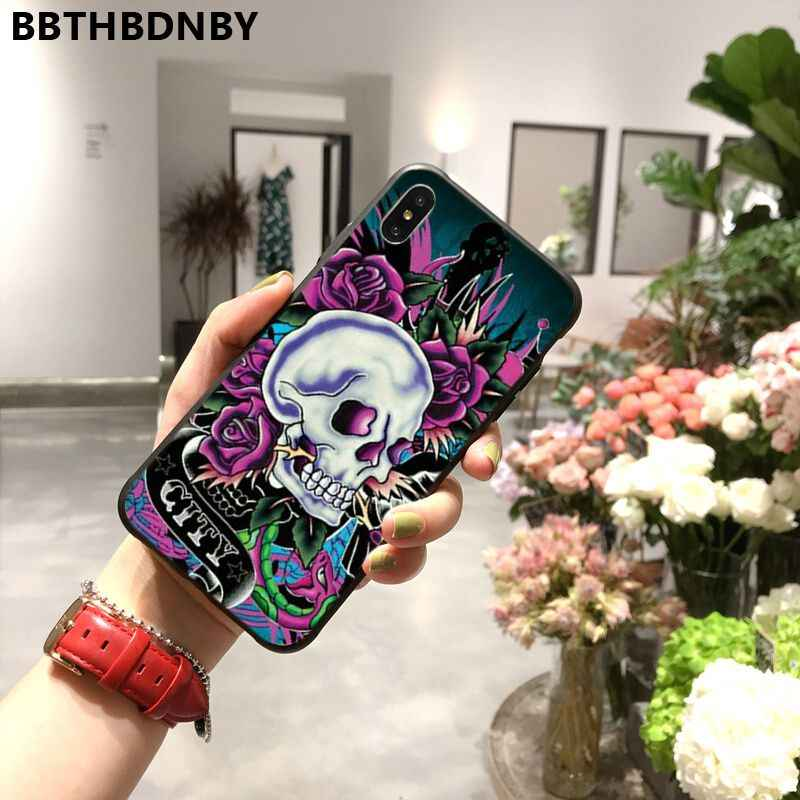 Telefon Fall Top von schädel kunst in Mexiko Schwarz TPU Weichen Telefon Fall Abdeckung für iPhone 11 pro XS MAX 8 7 6 6S Plus X 5 5S SE XR fall