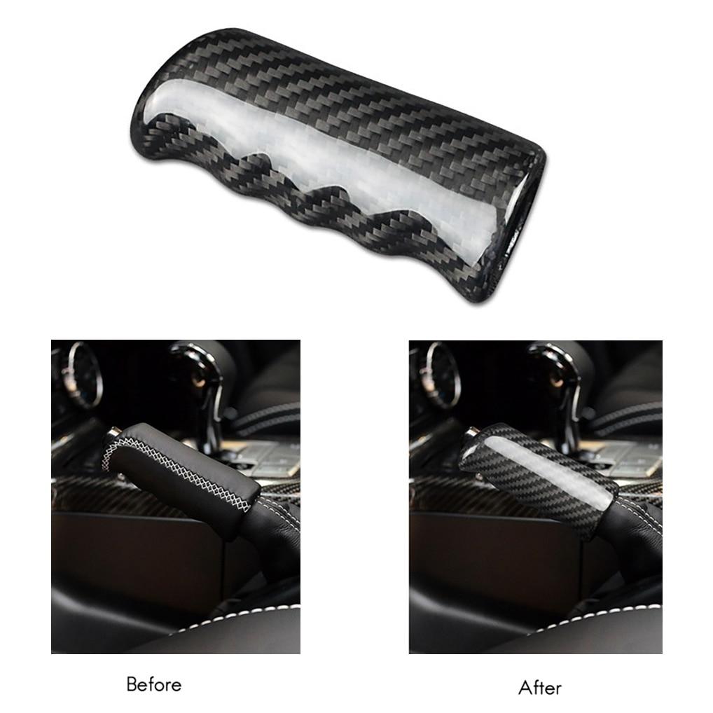 Car Carbon Fiber Handbrake Cover Grip Handle Lever Brake Handle Cover for Mercedes Benz G Class W463 W464 G500 AMG G63