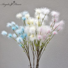 بولساتيلا إديلويس زهرة اصطناعية Pompom أقحوان ديكور المنزل الزفاف باقة ريشة تشكيلة زهور صور الدعائم