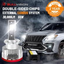 Bullvision D1S lampa czołowa LED Canbus nie błąd 30000LM D2S D3S D4S D5S D8S D1R D2R D3R D4R 55W HID stateczniki samochód Ice żarówki 2 sztuk zestawy