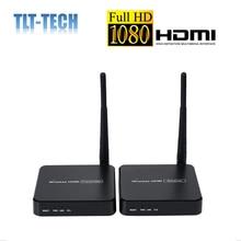 100m sem fio hdmi extensor 2.4ghz/5ghz 1080p wifi hdmi 1.3 receptor transmissor de áudio e vídeo remetente com suporte ir hdcp1.2 hdtv