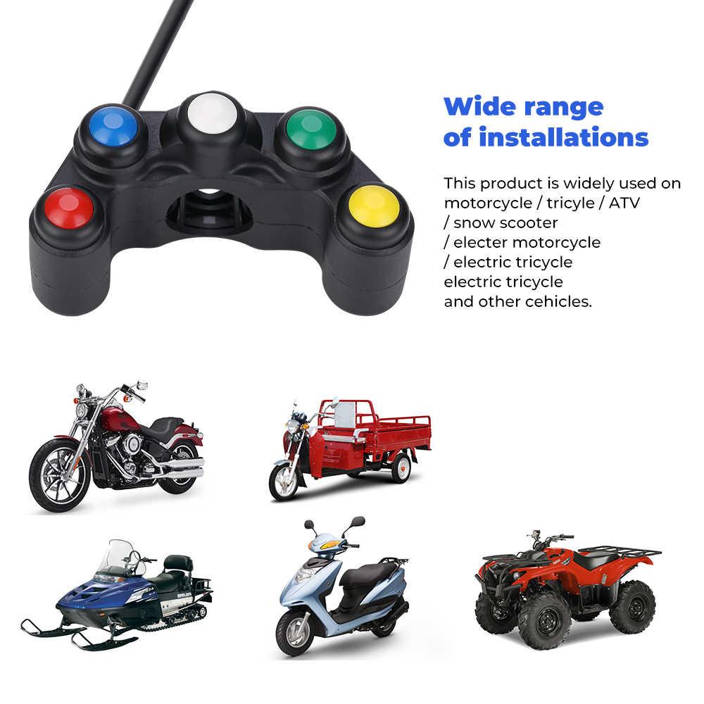 Kemimoto Universal 5 Tombol Array Motor Switch Balap Sepeda Trail 22 Mm Stang Switch Perakitan Menangani Bar Switch
