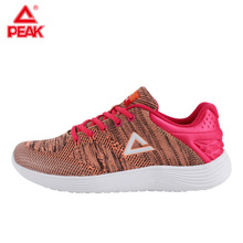 PEAK Running Shoes Light Weight Sneakers Women's Sports Shoes Breathable Stretch Yarns Fitness Sneaker Soft Sole EW7148H li ning 2018 women shoes ace run running shoes light weight wearable li ning sports shoes fitness breathable sneakers arbn006