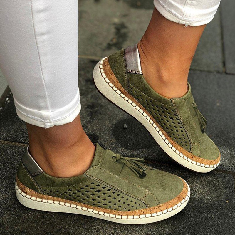 Canvas Student Flat Comfortable Spring Autumn Sneakers Shoes Women Basic Casual Solid Lace-up Walking Shoes Female
