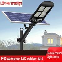 30/50/100/150/200 / 300W Remote Control LED Solar Street Lamp PIR Motion Sensor Wall Timing Lamp Waterproof Square Garden Yard